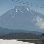 昨日の富士山です