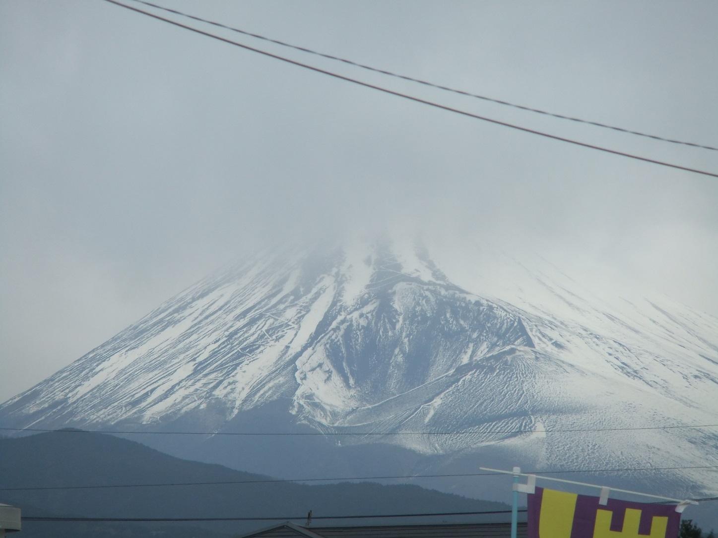 曇りでも富士山
